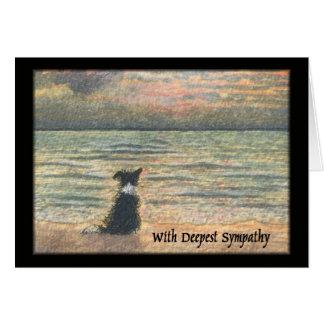 Cartão Simpatia para a perda de cão