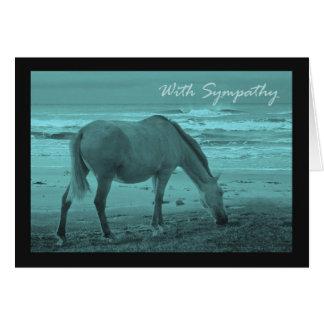 Cartão Simpatia, perda de cavalo do animal de estimação