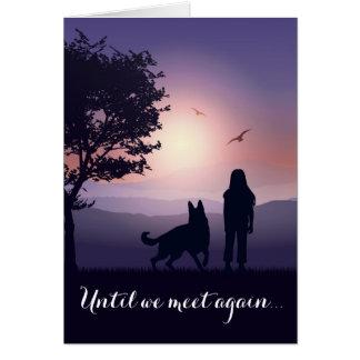 Cartão Simpatia personalizada perda do cão dos pêsames do
