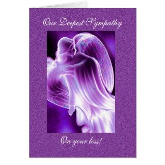 Cartão Simpatia roxa do anjo