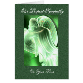 Cartão Simpatia verde do anjo