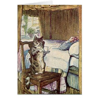 Cartão Simpkin o gato serve o chá - Beatrix Potter