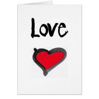cartão simples, corajoso do amor do coração