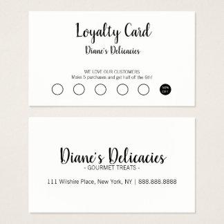 Cartão simples do negócio & da lealdade