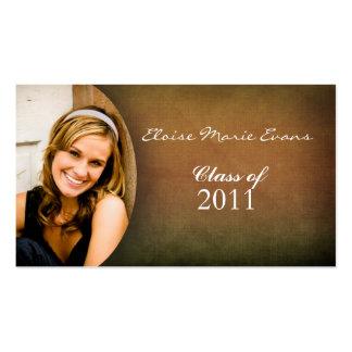 Cartão simples do representante da graduação da fo cartões de visita