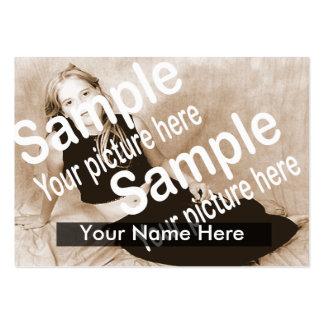Cartão simples dos comp(s) cartão de visita grande