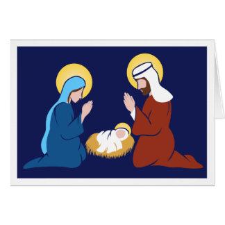 Cartão simples e limpo da família santamente de