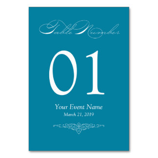 Cartão simples & elegante da cerceta da mesa