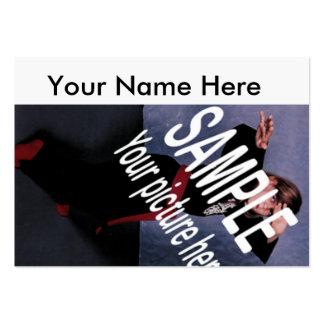 Cartão simplesmente branco dos comp(s) cartão de visita grande