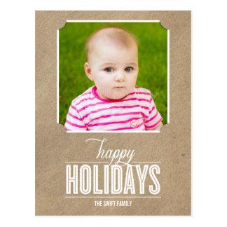 Cartão simplesmente Crafted do cartão com fotos do