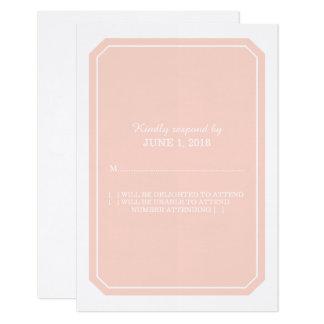 Cartão simplesmente elegante da resposta do coral convite 8.89 x 12.7cm