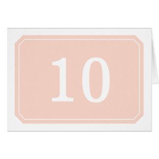 Cartão simplesmente elegante do número da mesa do