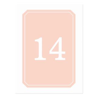 Cartão simplesmente elegante do número da mesa do cartão postal