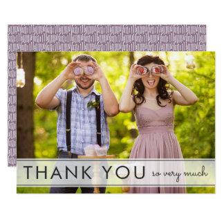 Cartão Simplesmente obrigado do casamento do divertimento