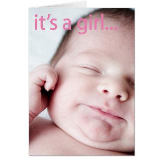 Cartão Simplesmente uma menina