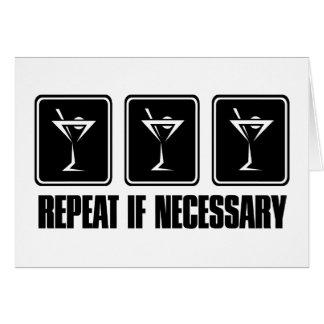 Cartão Sinais da bebida de Martini - repetição caso