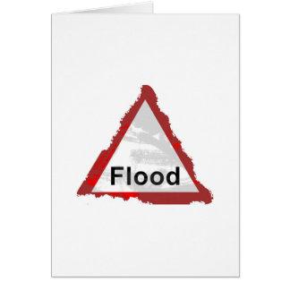Cartão Sinal da inundação do Grunge