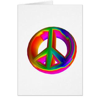 Cartão sinal de paz 3-D #3 do arco-íris