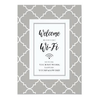 Cartão Sinal de Quatrefoil Wifi