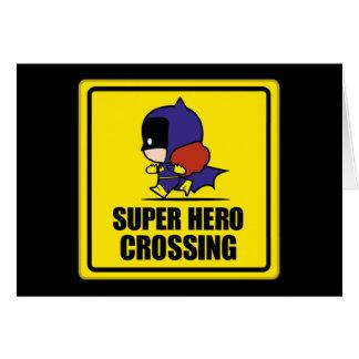 Cartão Sinal do cruzamento do super-herói do Batwoman de