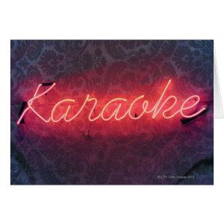 Cartão Sinal do karaoke