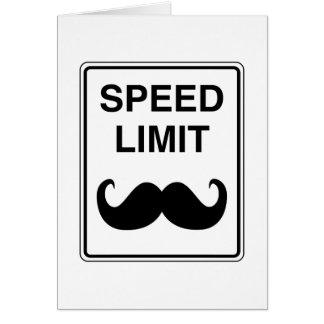 Cartão Sinal do Mustachio do limite de velocidade