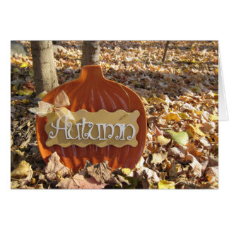 Cartão Sinal do outono
