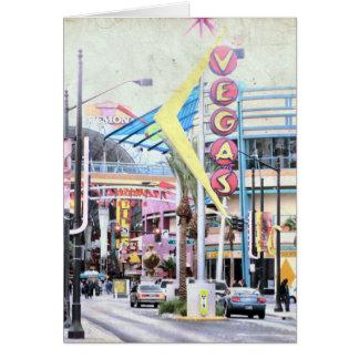 Cartão Sinal inspirado retro de Las Vegas Nevada