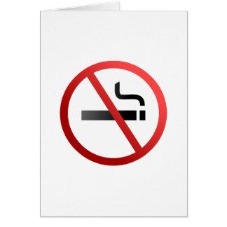 Cartão Sinal não fumadores