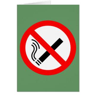 Cartão Sinal não fumadores - Signage BRITÂNICO