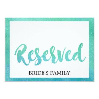 Cartão Sinal reservado do casamento de praia da