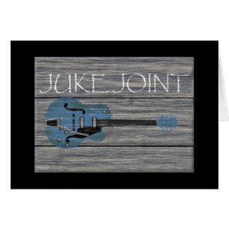 Cartão Sinal retro da junção de Juke