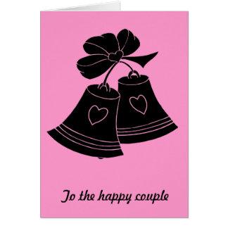 Cartão Sinos de casamento, fuschia