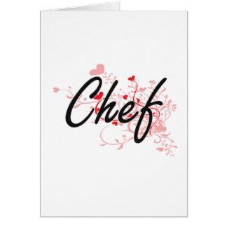 Cartão Sistema de trabalho artístico do cozinheiro chefe