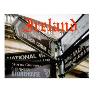 Cartão siteseeing de Dublin Ireland Eire