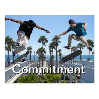 Cartão Skateboarding extremo do compromisso