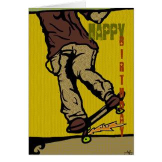 Cartão skaters2, feliz, aniversário