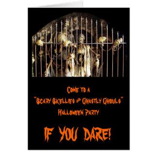 Cartão Skellies assustador & Ghouls chocantes