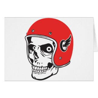 Cartão ☞ Skullracer motorcycle helmet