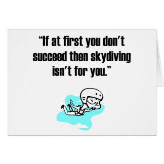 Cartão Skydiving