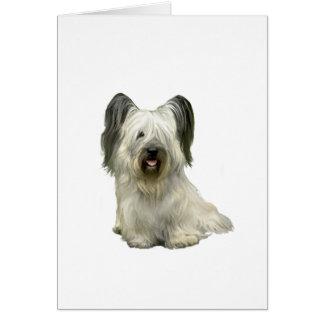 Cartão Skye Terrier (a) - luz