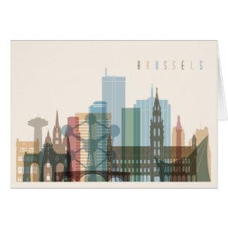Cartão Skyline da cidade de Bruxelas, Bélgica |