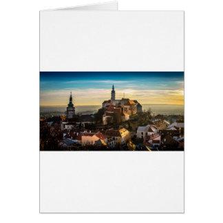 Cartão Skyline da república checa