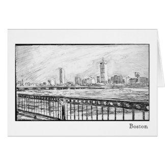 Cartão Skyline de Boston, Boston