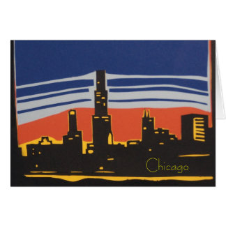 Cartão Skyline de Chicago