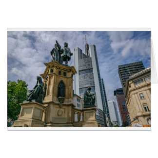 Cartão Skyline de Francoforte