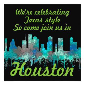 Cartão Skyline de Houston, Texas - selva do SG