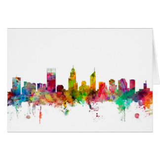 Cartão Skyline de Perth Austrália