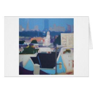Cartão Skyline de San Francisco (azul)
