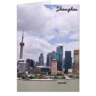 Cartão Skyline de Shanghai, China